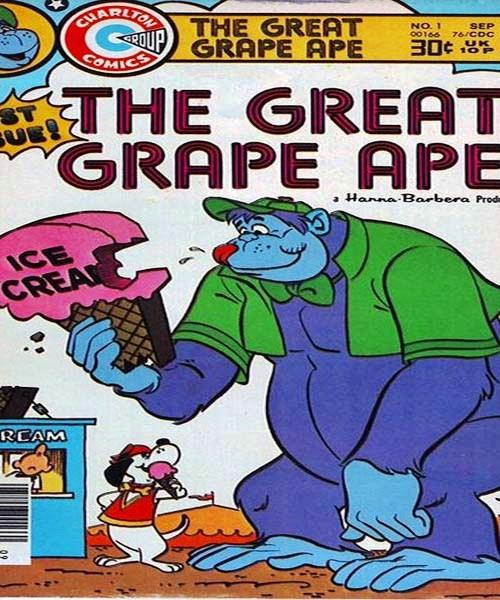 کارتون گوریل انگوری